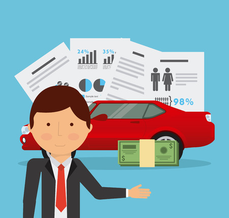 car bills: business planning design, vector illustration eps10 graphic