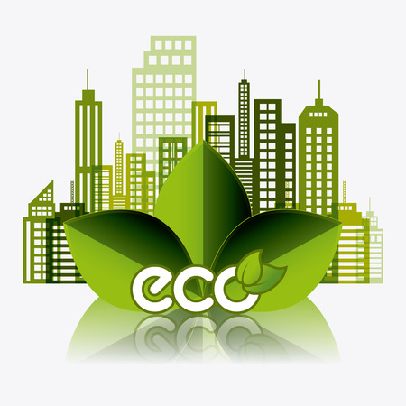 edifice: Eco city design, vector illustration eps 10.
