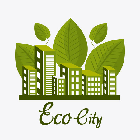 Eco city design, vector illustration eps 10.