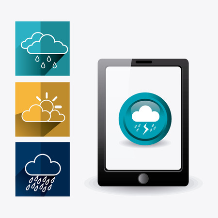 humidity: Weather mobile application design, vector illustration eps 10.