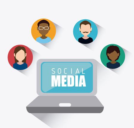 socializando: Dise�o de medios de comunicaci�n social, ilustraci�n vectorial eps 10. Vectores