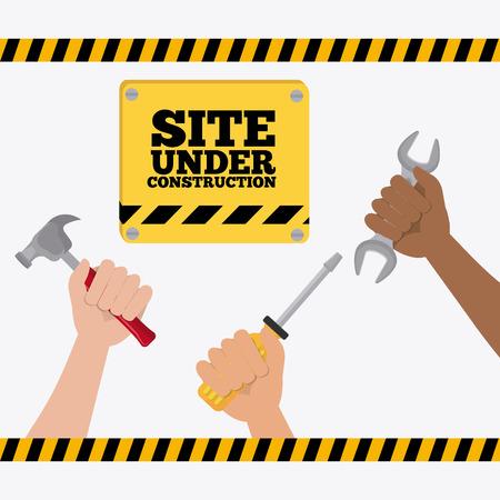 under: Under construction design, vector illustration eps 10.