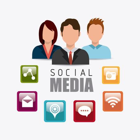 socialising: Diseño de medios de comunicación social, ilustración vectorial eps 10. Vectores