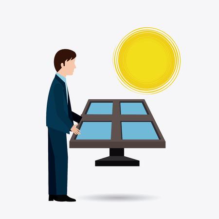 human energy: Solar energy design, vector illustration eps 10.
