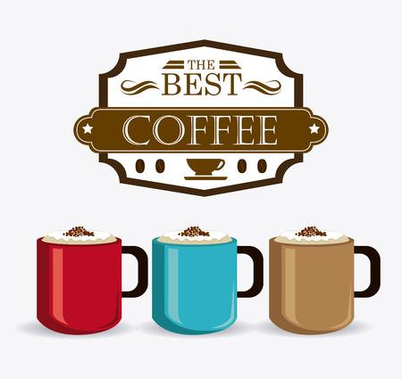 drink coffee: Coffee drink design, vector illustration eps 10. Illustration