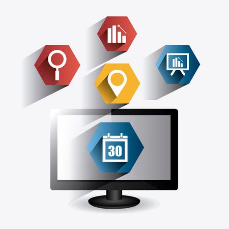 socializing: Dise�o de medios de comunicaci�n social Vectores