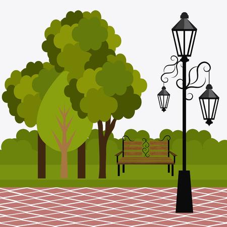 green park: Green park design, vector illustration eps 10.