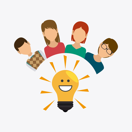hapiness: Think positive design, vector illustration eps 10.