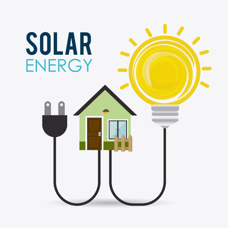 solar home: Green energy design, vector illustration eps 10.