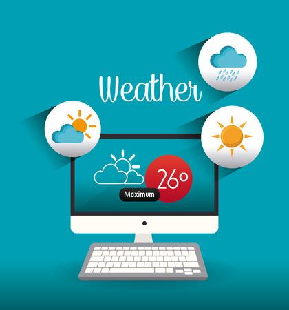 humid: Weather mobile app design, vector illustration eps 10. Illustration