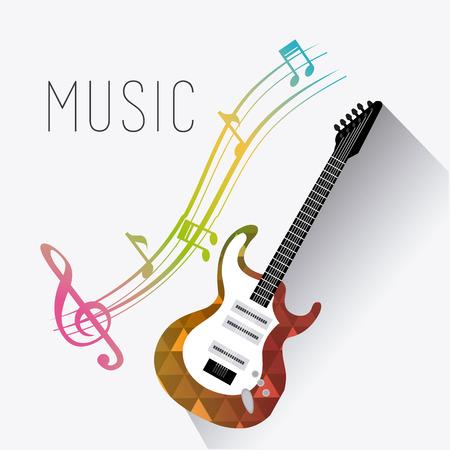 Progettazione digitale di musica, illustrazione ENV 10 di vettore.