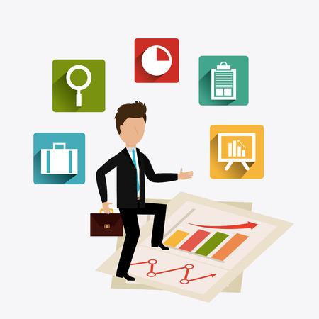 Business Solutions design, vector illustration eps 10.