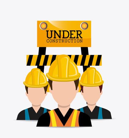 advertising construction: Under construction design, vector illustration eps 10.