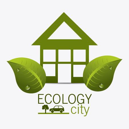 guard house: Eco city design, vector illustration eps 10.