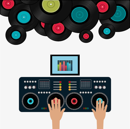 Music digital design, vector illustration eps 10. Çizim