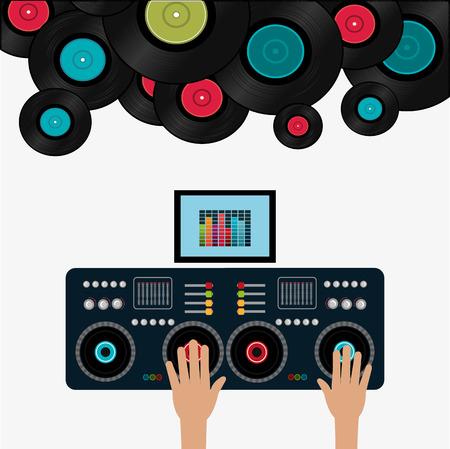 Muziek digitaal ontwerp, vector illustratie eps 10. Stock Illustratie