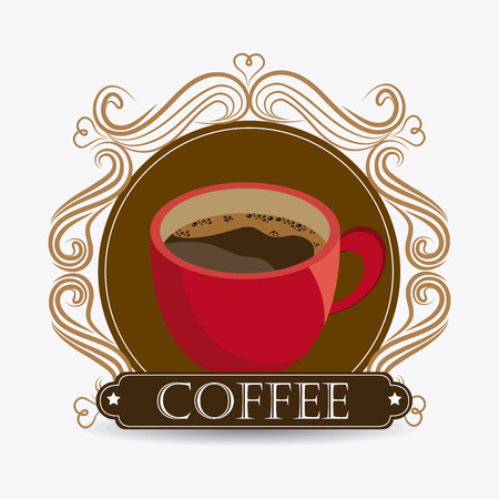 coffee: Coffee drink design Illustration