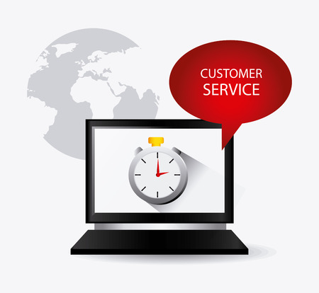 computer services: Customer service design, vector illustration eps 10.