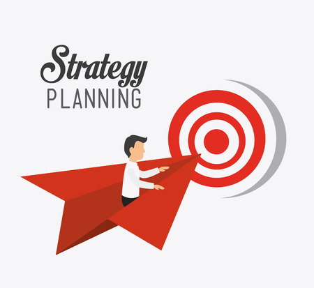 business project: Business strategy design, vector illustration eps 10. Illustration