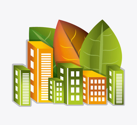 urbanization: Eco city design, vector illustration eps 10.