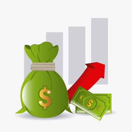 Business profit design, vector illustration eps 10.