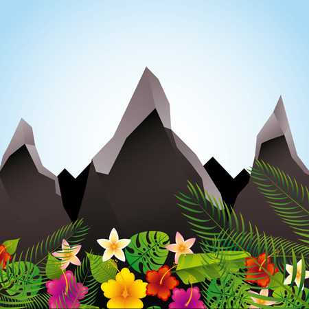 leafs: tropical flowers design, vector illustration eps10 graphic