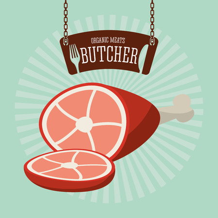 chain food: butcher product design, vector illustration eps10 graphic