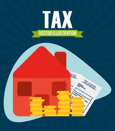 financial concept: tax concept design, vector illustration eps10 graphic