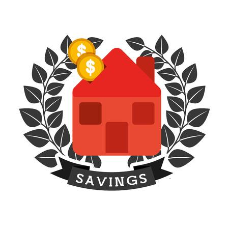 house exchange: money icon design, vector illustration eps10 graphic Illustration