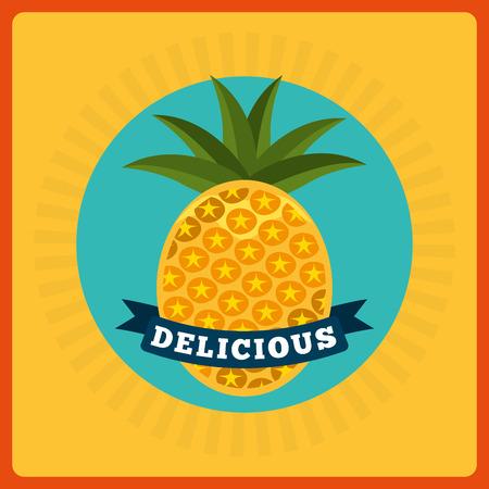 tropical fruit: sweet fruits design, vector illustration eps10 graphic Illustration