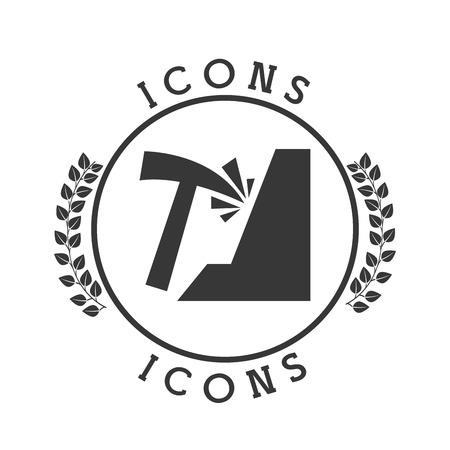 mining: minería icono del diseño, ilustración vectorial gráfico eps10