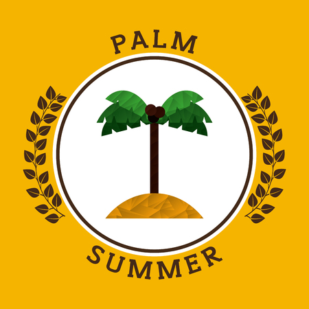 palm wreath: summer vacation icon design, vector illustration eps10 graphic