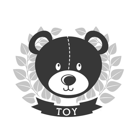 teddy wreath: toy icon design, vector illustration eps10 graphic