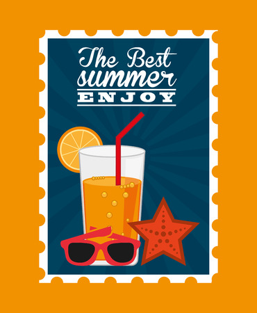 eps10: summer vacations design, vector illustration eps10 graphic