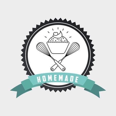 homemade: homemade concept design, vector illustration eps10 graphic Illustration