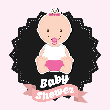 happy birthday baby: baby shower design, vector illustration eps10 graphic Illustration
