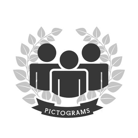 strichmännchen: Piktogramme Icon Design, Vektor-Illustration eps10 Grafik