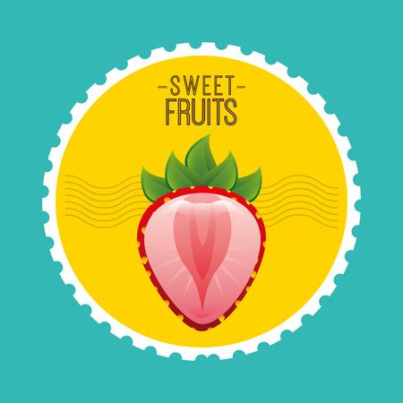 summer diet: sweet fruits design, vector illustration eps10 graphic Illustration