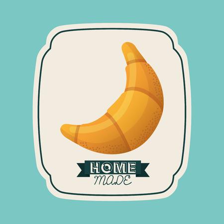 homemade bread: homemade concept design, vector illustration eps10 graphic Illustration