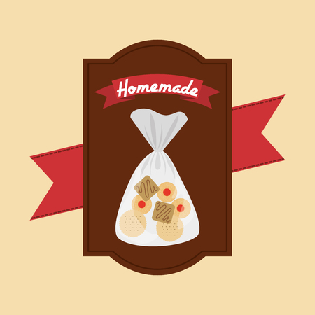 manually: homemade product design, vector illustration eps10 graphic Illustration