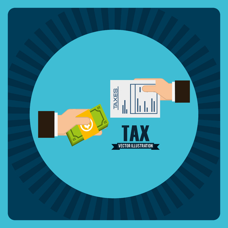 irs: tax concept design, vector illustration eps10 graphic