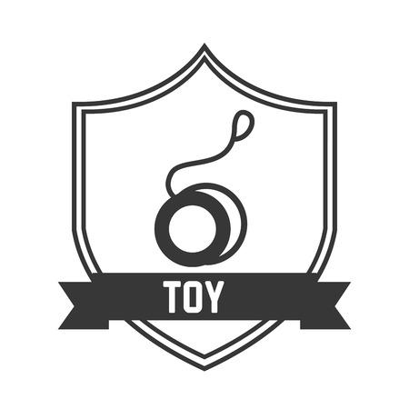 play yoyo: toy icon design, vector illustration eps10 graphic