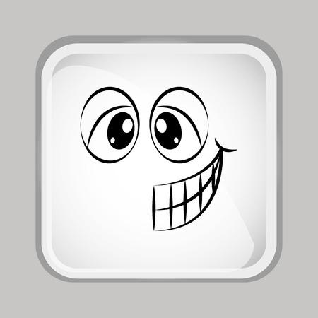 emoticon face design, vector illustration Zdjęcie Seryjne - 44415875
