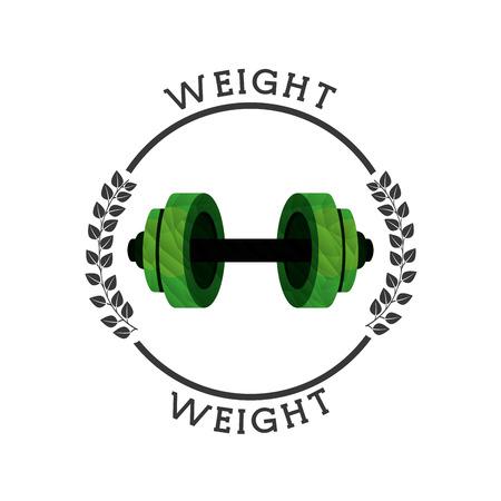gym equipment: attrezzature da palestra design, illustrazione vettoriale