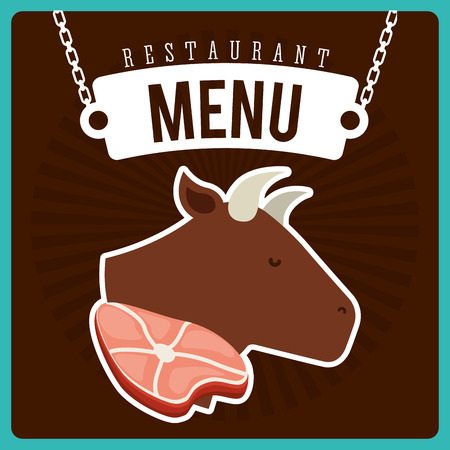 chain food: butchery menu design, vector illustration eps10 graphic