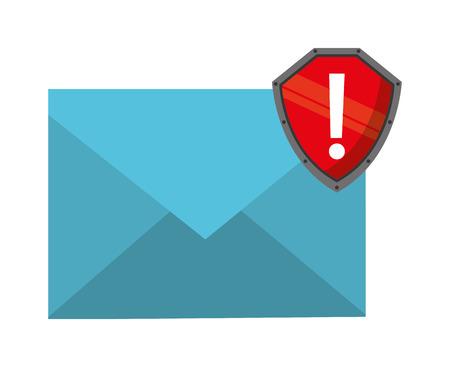 alert ribbon: email marketing design, vector illustration