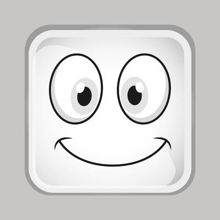 emoticon face design, vector illustration