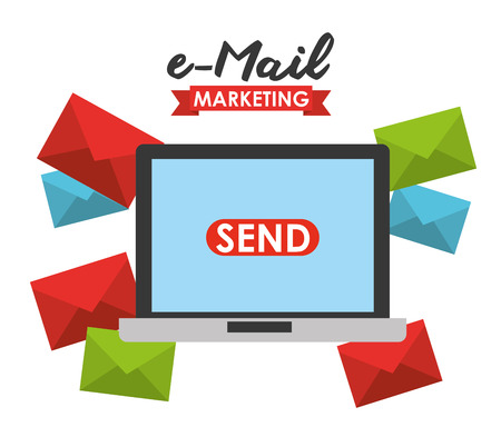 emails: email marketing design, vector illustration Illustration
