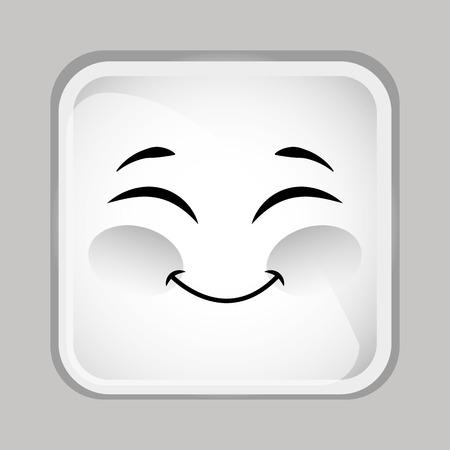 이모티콘 얼굴 디자인, 벡터 일러스트 레이 션 스톡 콘텐츠 - 44437262