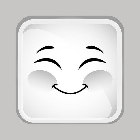 emoticon face design, vector illustration